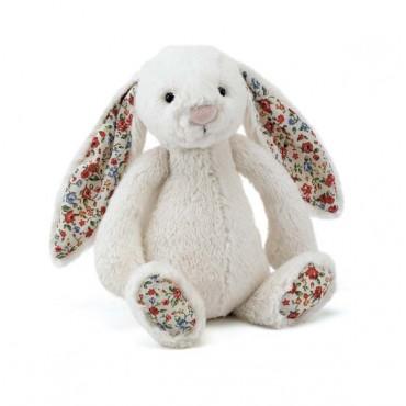 Peluche lapin - Bashful blossom crème
