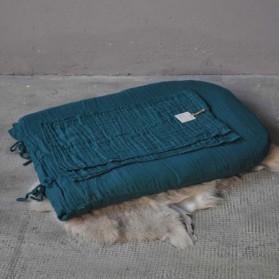 Housse de matelas à langer bout rond - Lange uni bleu canard