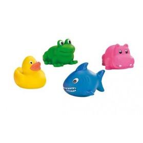Lot de 4 cracheurs d'eau - animaux pour bain