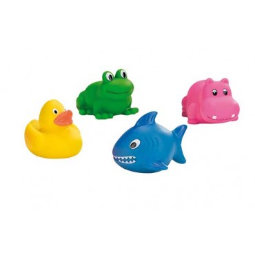 Lot de 4 animaux de bain