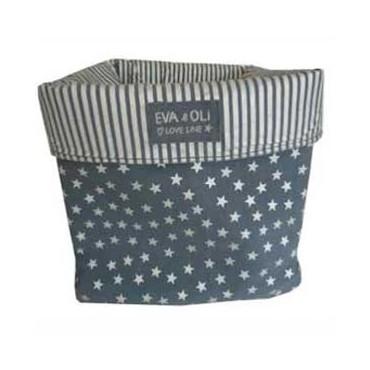 Panier de rangement Etoiles - Bleu gris