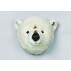 Trophée peluche - Tête d'ours polaire Basile