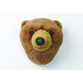 Trophée peluche - Tête d'ours brun Oliver