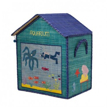 Coffre à jouets raphia - Aquarium
