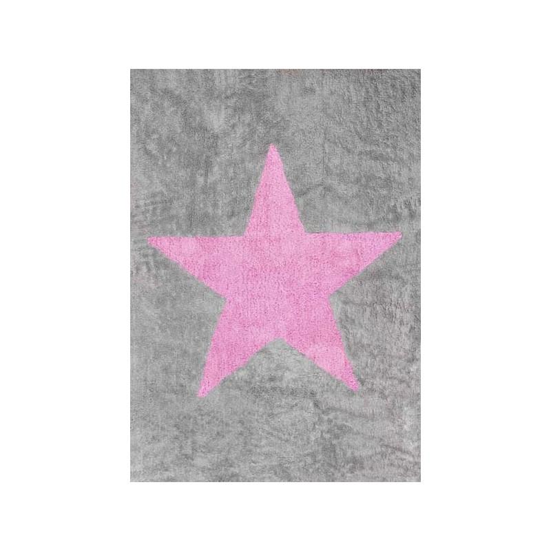 Chambre Couleur Beige Et Rose : Accueil > Décoration > Tapis > Tapis Etoile rose  Gris