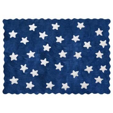 Tapis petites étoiles pleines - Bleu dark