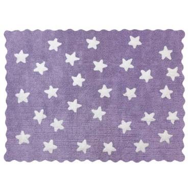 Tapis petites étoiles pleines - Violet