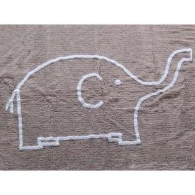 Tapis Eléphant blanc - Taupe