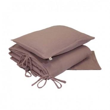 Parure de lit gaze de coton - Vieux rose