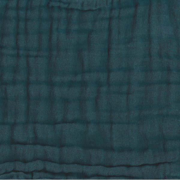 Parure de lit gaze de coton - Bleu canard
