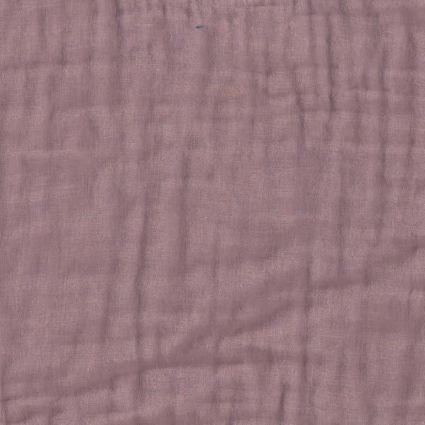Drap housse bébé gaze de coton - Vieux rose