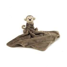 Doudou singe - Soother Bashful marron