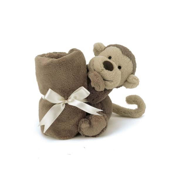 Doudou singe - Bashful marron
