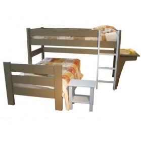 lit mezzanine dominique hauteur 127 cm le pestacle de ma lou. Black Bedroom Furniture Sets. Home Design Ideas