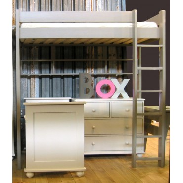 Lit mezzanine Dominique Hauteur 209 cm dissociable coloris lin