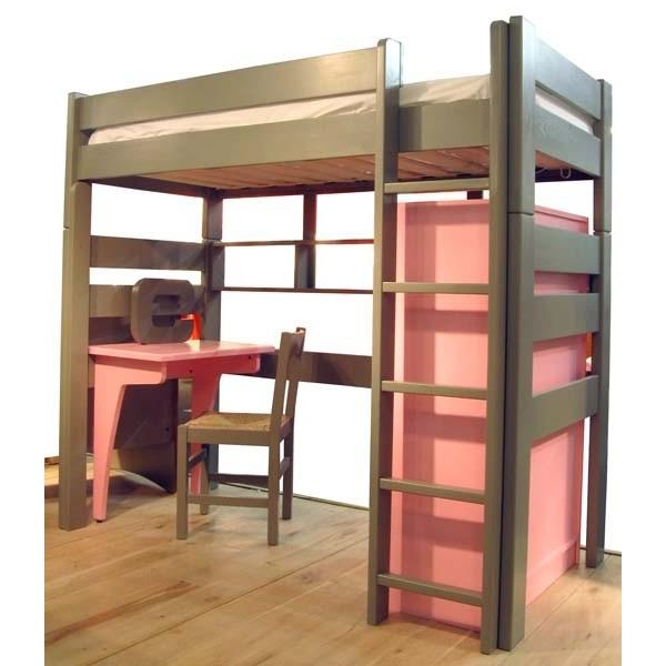 Armoire pour lit surélevé de 90 cm de large