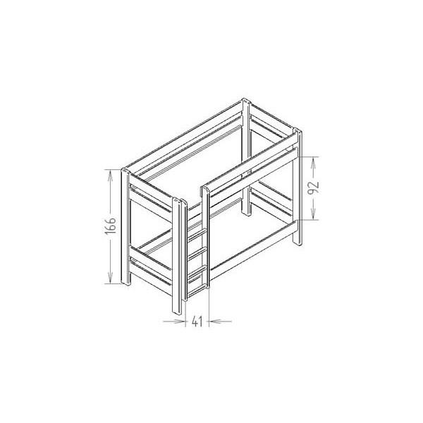 lits superpos s dominique hauteur 166 cm indissociables le pestacle de ma lou. Black Bedroom Furniture Sets. Home Design Ideas
