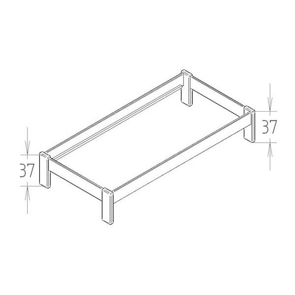 Lit simple 90x190 cm Dominique - Paul - Croquis