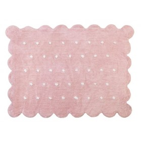 Tapis Biscuit - Rose