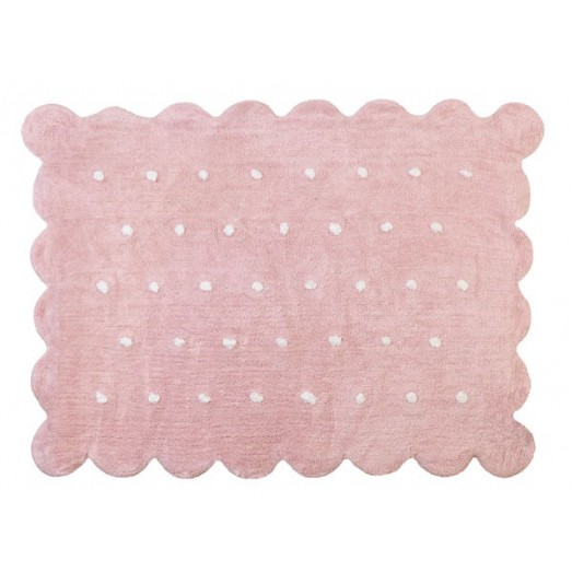 Tapis Biscuit rose