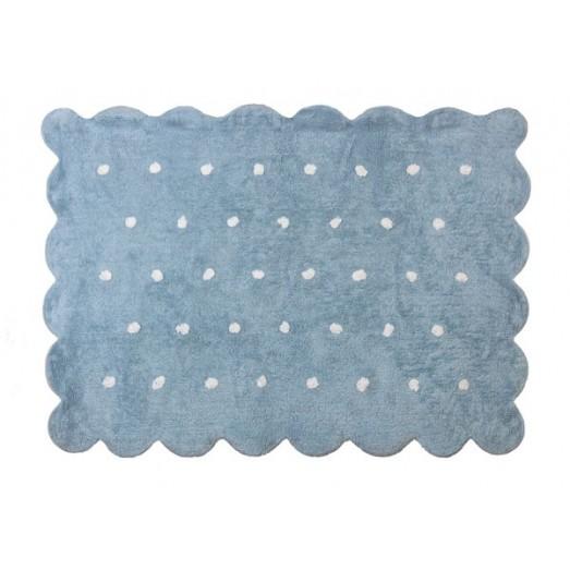 Tapis Biscuit bleu