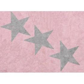 Tapis 3 étoiles grises - Rose