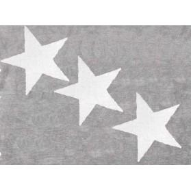 Tapis 3 étoiles blanches - Gris
