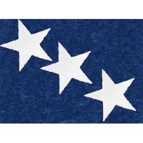 Tapis 3 étoiles blanches - Marine