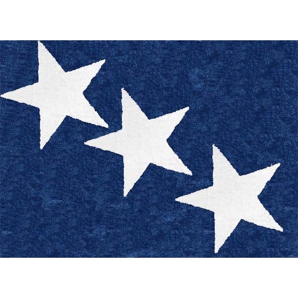 Tapis 3 étoiles blanches - dark bleu