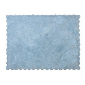 Tapis Biscuit uni - Bleu ciel