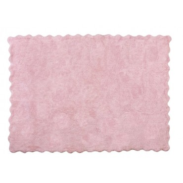 Tapis biscuit uni - Rose