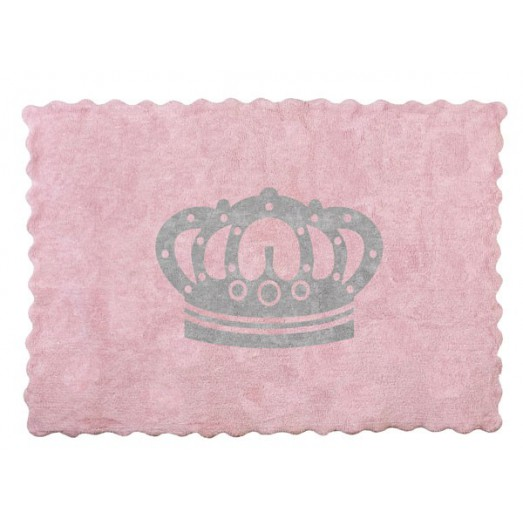Tapis couronne - rose