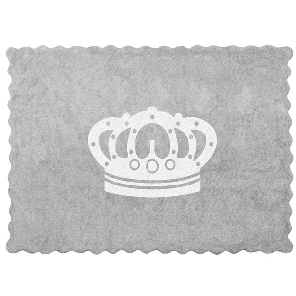 Tapis couronne - gris