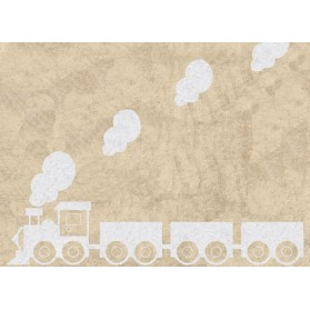Tapis Train blanc - Beige