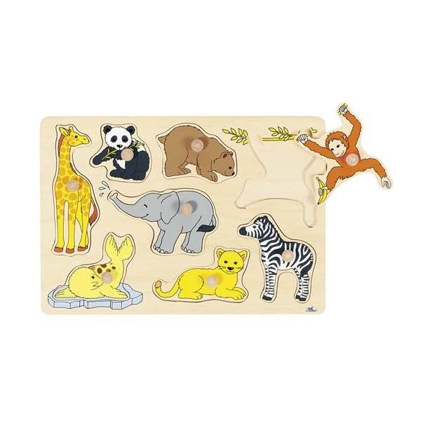 Puzzle à encastrements - Animaux de la jungle