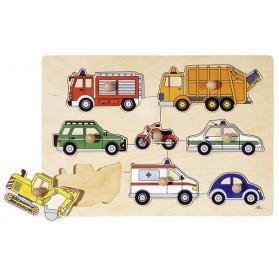 Puzzle à encastrements - Moyens de transport