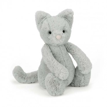 Peluche chat - Bashful gris medium