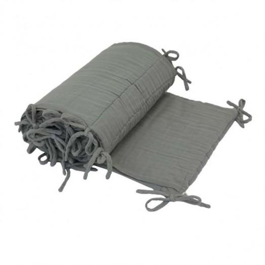 Tour de lit - Lange uni gris