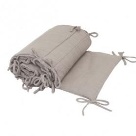 Tour de lit en lange de coton bio - Poudre