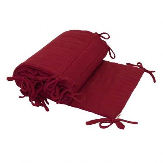 Tour de lit - Lange uni rouge