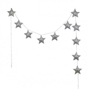 Guirlande étoiles irisées - Argent