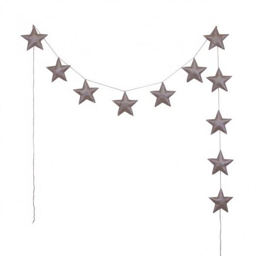 Guirlande étoiles irisées - Rose