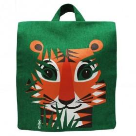 Petit cartable en coton bio - Tigre
