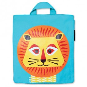 Petit cartable en coton bio - Lion