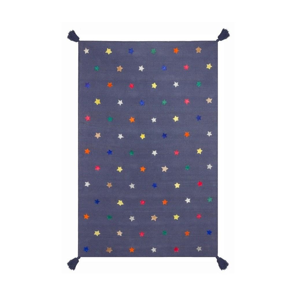tapis tiss main gris et toiles muticolores le pestacle de ma lou. Black Bedroom Furniture Sets. Home Design Ideas