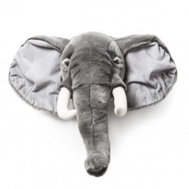 Trophée peluche Eléphant gris - George