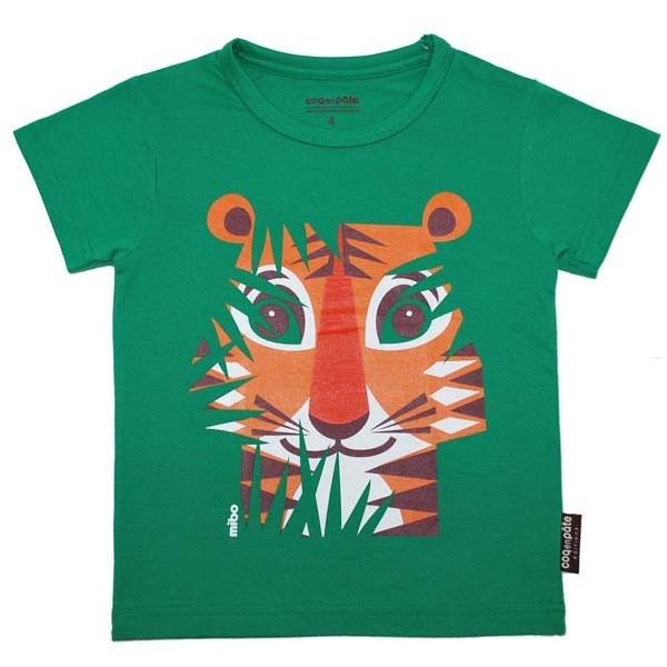 T-shirt enfant manches courtes - face - Tigre