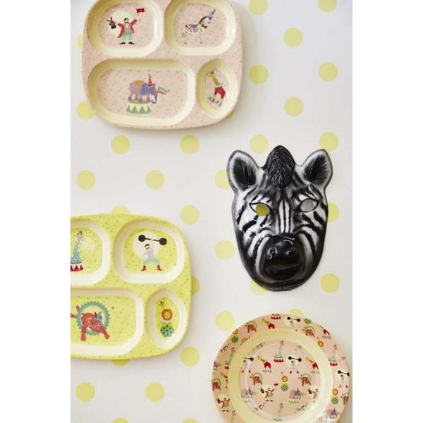 Assiette compartimentée - Cirque jaune garçon