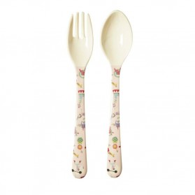 Set cuillère et fourchette - Girl circus