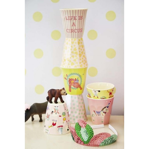 Lot de 6 petits verres couleurs - Circus Girl